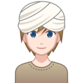 Person Wearing Turban: Light Skin Tone on emojidex 1.0.34