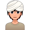 Person Wearing Turban: Medium-Light Skin Tone on emojidex 1.0.34
