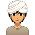 Person Wearing Turban: Medium Skin Tone on emojidex 1.0.34