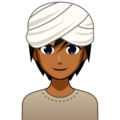 Person Wearing Turban: Medium-Dark Skin Tone on emojidex 1.0.34