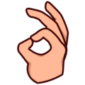 OK Hand: Medium-Light Skin Tone on emojidex 1.0.34