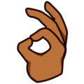 OK Hand: Medium-Dark Skin Tone on emojidex 1.0.34