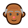 Old Man: Medium-Dark Skin Tone on emojidex 1.0.34