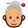 Old Woman: Medium Skin Tone on emojidex 1.0.34
