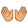 Open Hands: Medium Skin Tone on emojidex 1.0.34