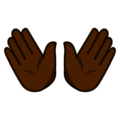 Open Hands: Dark Skin Tone on emojidex 1.0.34