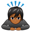 Person Bowing: Medium-Dark Skin Tone on emojidex 1.0.34