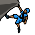 Person Climbing: Medium-Dark Skin Tone on emojidex 1.0.34