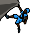 Person Climbing: Dark Skin Tone on emojidex 1.0.34
