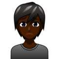 Person Frowning: Dark Skin Tone on emojidex 1.0.34