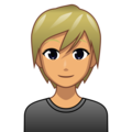 Blond-Haired Person: Medium Skin Tone on emojidex 1.0.34