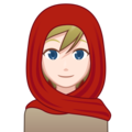 Person With Headscarf: Light Skin Tone on emojidex 1.0.34