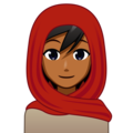 Person With Headscarf: Medium-Dark Skin Tone on emojidex 1.0.34