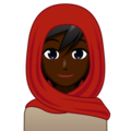 Person With Headscarf: Dark Skin Tone on emojidex 1.0.34