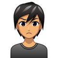 Person Pouting: Medium Skin Tone on emojidex 1.0.34