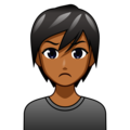 Person Pouting: Medium-Dark Skin Tone on emojidex 1.0.34