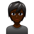 Person Pouting: Dark Skin Tone on emojidex 1.0.34