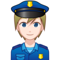 Police Officer: Light Skin Tone on emojidex 1.0.34