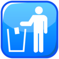 Litter in Bin Sign on emojidex 1.0.34