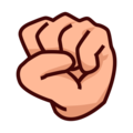 Raised Fist: Medium-Light Skin Tone on emojidex 1.0.34