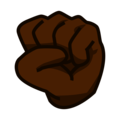 Raised Fist: Dark Skin Tone on emojidex 1.0.34
