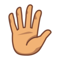 Hand With Fingers Splayed: Medium Skin Tone on emojidex 1.0.34