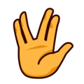 Vulcan Salute on emojidex 1.0.34