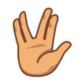 Vulcan Salute: Medium Skin Tone on emojidex 1.0.34