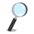 Magnifying Glass Tilted Right on emojidex 1.0.34
