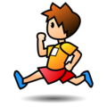 Person Running: Medium-Light Skin Tone on emojidex 1.0.34