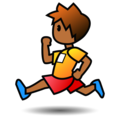 Person Running: Medium-Dark Skin Tone on emojidex 1.0.34
