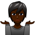 Person Shrugging: Dark Skin Tone on emojidex 1.0.34