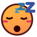 Sleeping Face on emojidex 1.0.34