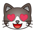 Smiling Cat Face With Heart-Eyes on emojidex 1.0.34