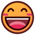 Smiling Face With Open Mouth & Smiling Eyes on emojidex 1.0.34