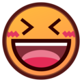 Smiling Face With Open Mouth & Closed Eyes on emojidex 1.0.34