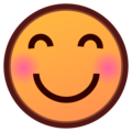 Smiling Face With Smiling Eyes on emojidex 1.0.34