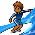Person Surfing: Medium-Dark Skin Tone on emojidex 1.0.34