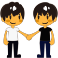 Two Men Holding Hands on emojidex 1.0.34