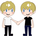 Two Men Holding Hands, Type-1-2 on emojidex 1.0.34