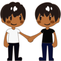 Two Men Holding Hands, Type-5 on emojidex 1.0.34