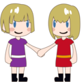 Two Women Holding Hands, Type-1-2 on emojidex 1.0.34