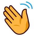 Waving Hand on emojidex 1.0.34