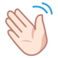 Waving Hand: Light Skin Tone on emojidex 1.0.34