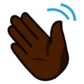 Waving Hand: Dark Skin Tone on emojidex 1.0.34