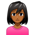 Woman Frowning: Medium-Dark Skin Tone on emojidex 1.0.34