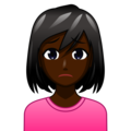 Woman Frowning: Dark Skin Tone on emojidex 1.0.34