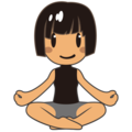 Woman in Lotus Position: Medium Skin Tone on emojidex 1.0.34