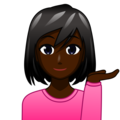 Woman Tipping Hand: Dark Skin Tone on emojidex 1.0.34