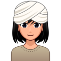 Woman Wearing Turban: Medium-Light Skin Tone on emojidex 1.0.34